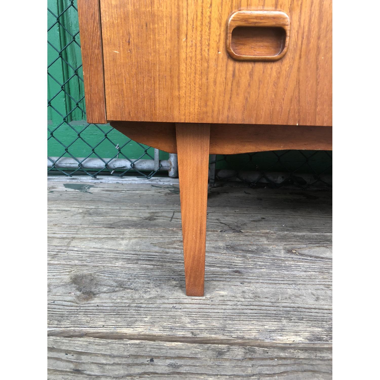 Danish Modern Teak Rolltop Locking Desk with Key - image-16