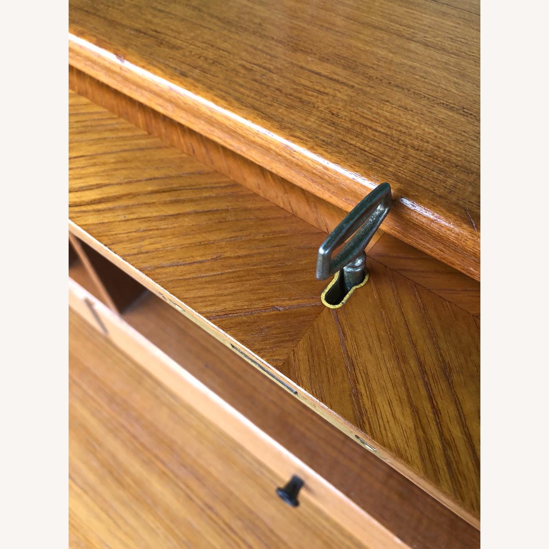 Danish Modern Teak Rolltop Locking Desk with Key - image-5