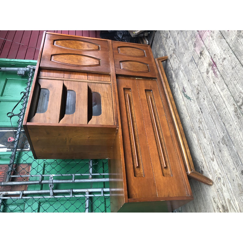 Mid Century Dresser with Burlwood & Glass - image-11