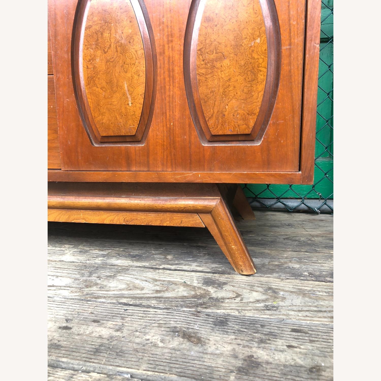 Mid Century Dresser with Burlwood & Glass - image-2
