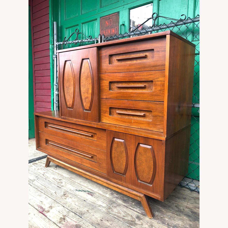 Mid Century Dresser with Burlwood & Glass - image-3