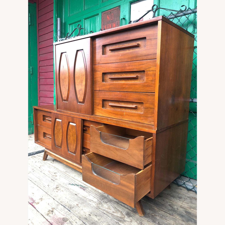 Mid Century Dresser with Burlwood & Glass - image-4