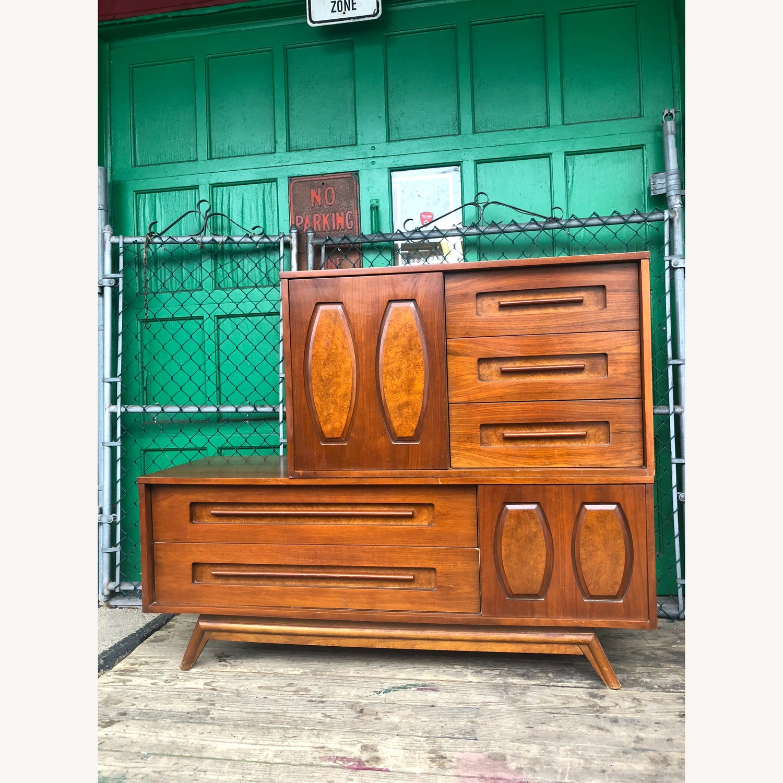 Mid Century Dresser with Burlwood & Glass - image-6