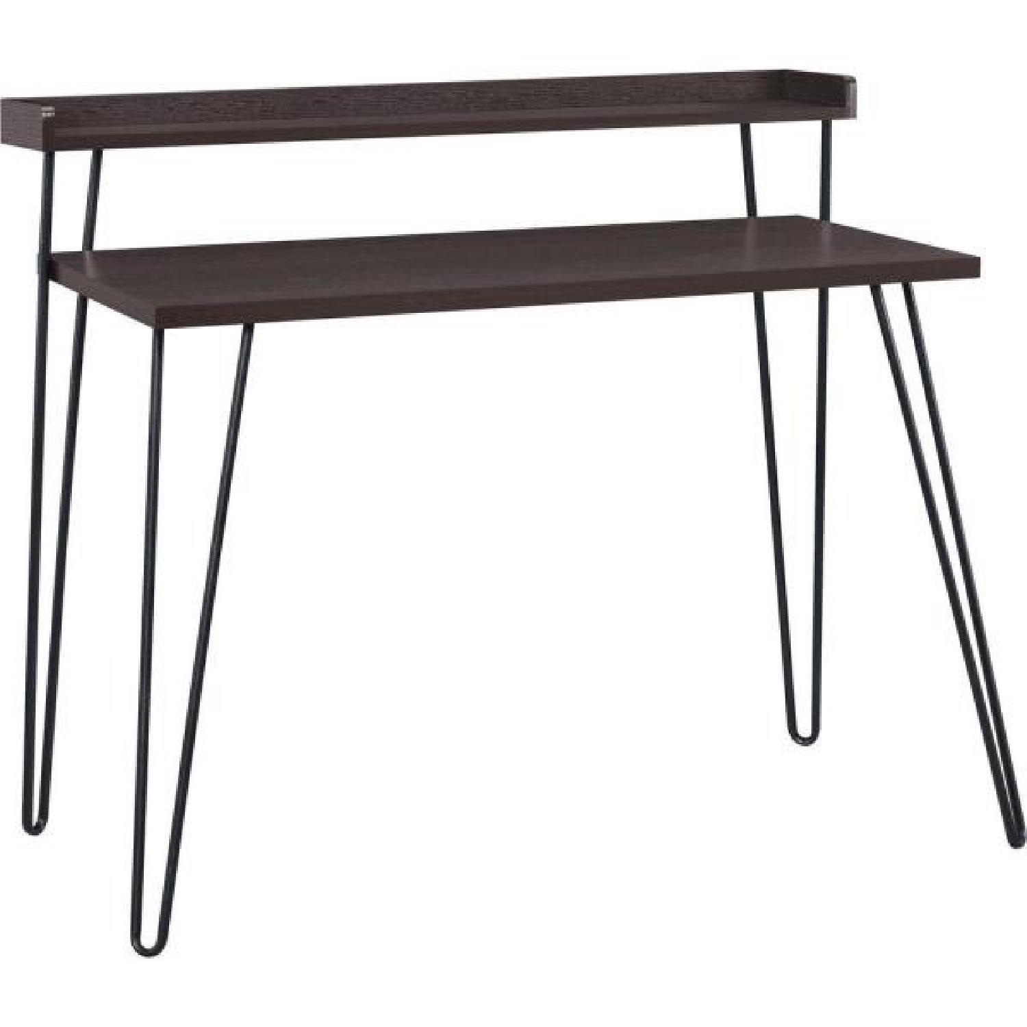Ameriwood Industries Hairpin Writing Desk with Riser - image-0