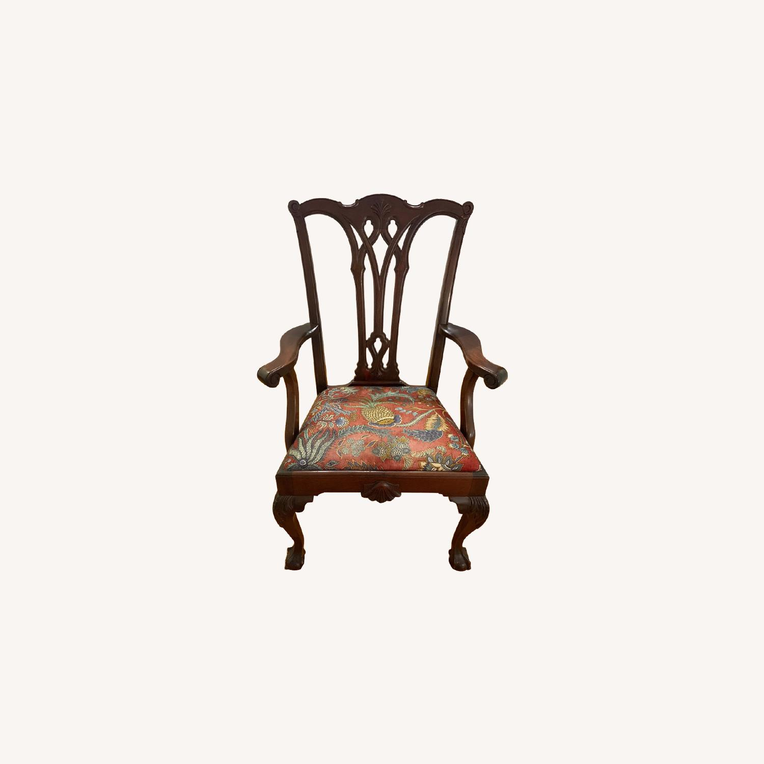 Antique Chippendale Side/Armchair - image-0
