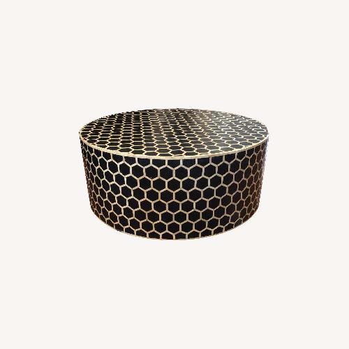 Used West Elm Bone Inlay Honeycomb Round Coffee Table for sale on AptDeco