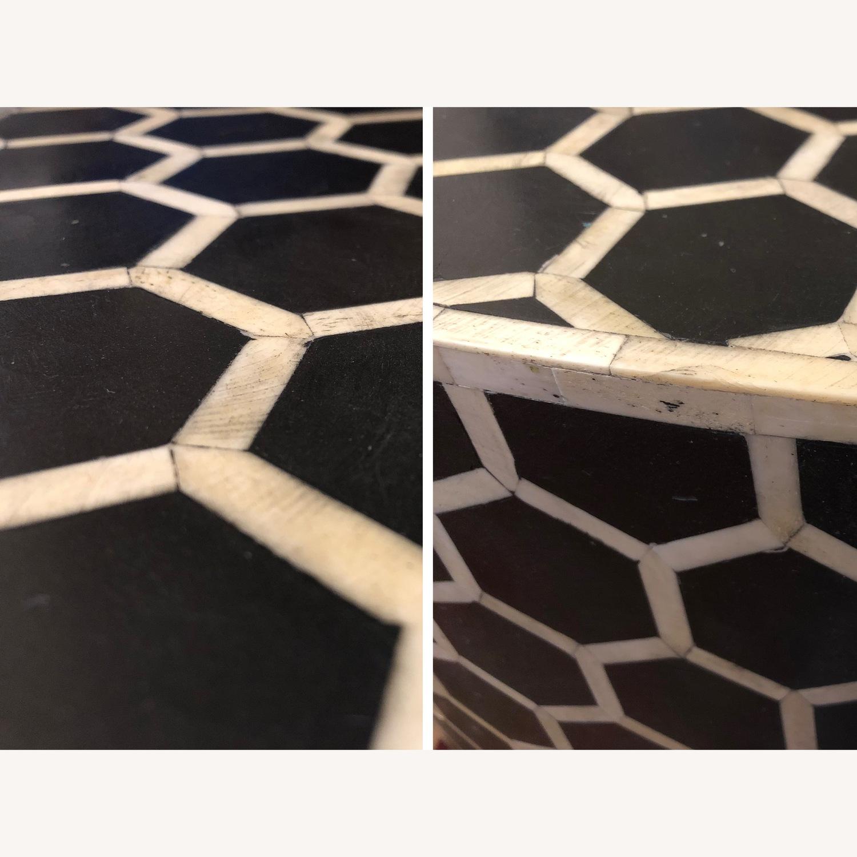 West Elm Bone Inlay Honeycomb Round Coffee Table - image-3