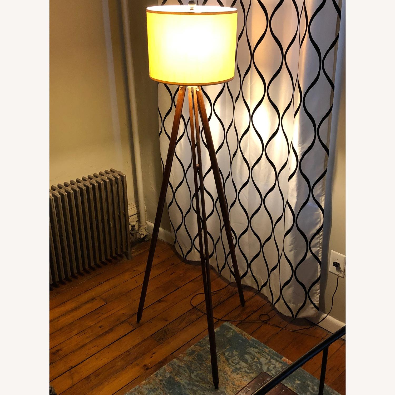 Surveyor Tripod Floor Lamp Upcycled Vintage - image-10