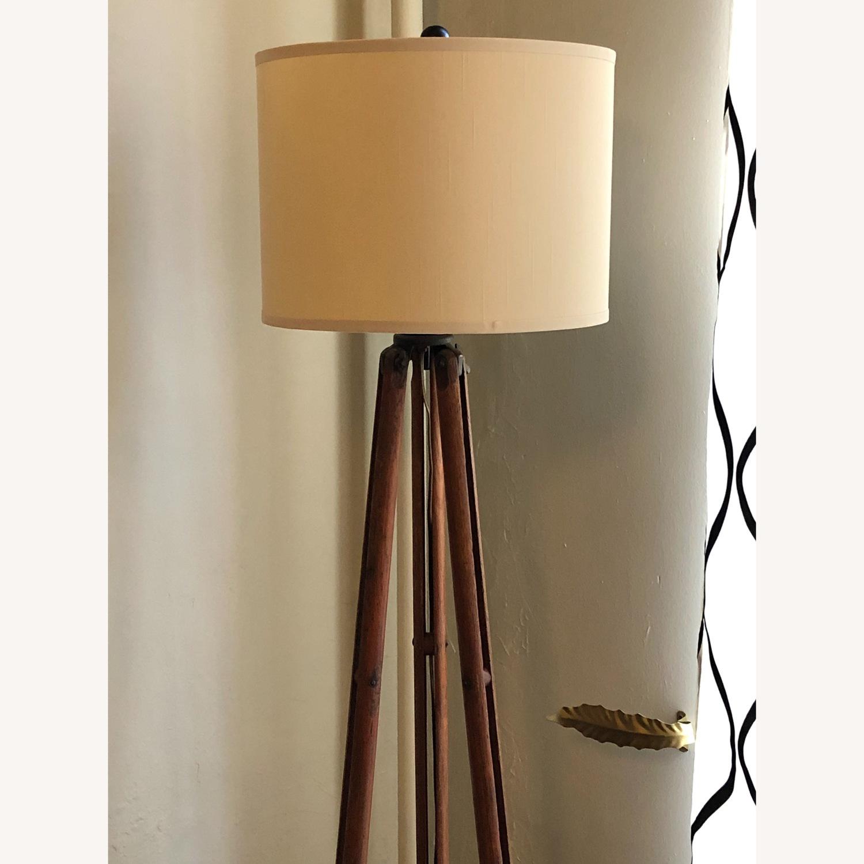 Surveyor Tripod Floor Lamp Upcycled Vintage - image-6