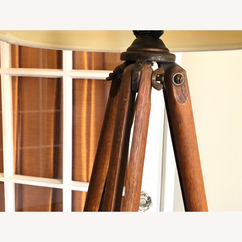 Surveyor Tripod Floor Lamp Upcycled Vintage - image-9