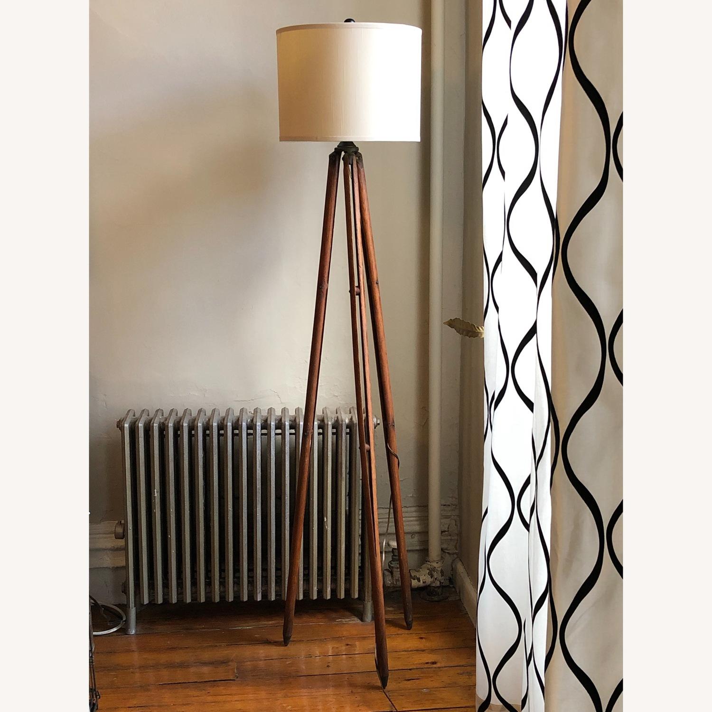 Surveyor Tripod Floor Lamp Upcycled Vintage - image-2