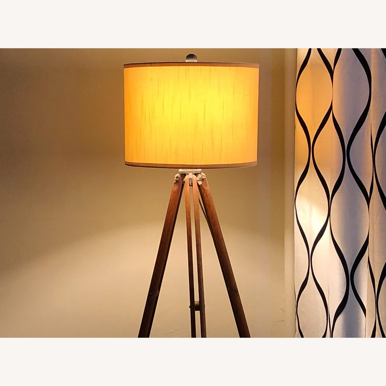 Surveyor Tripod Floor Lamp Upcycled Vintage - image-1