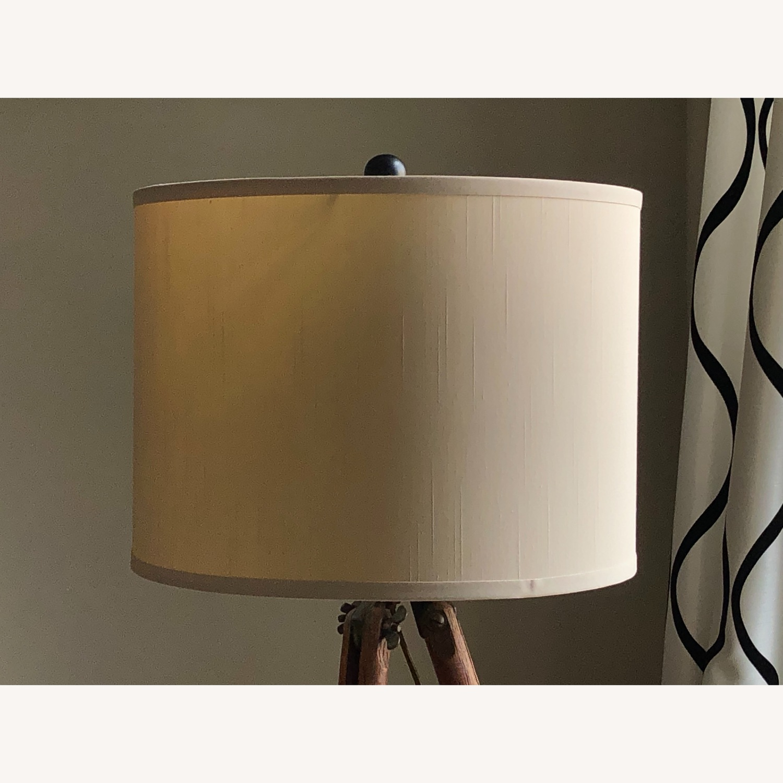 Surveyor Tripod Floor Lamp Upcycled Vintage - image-3