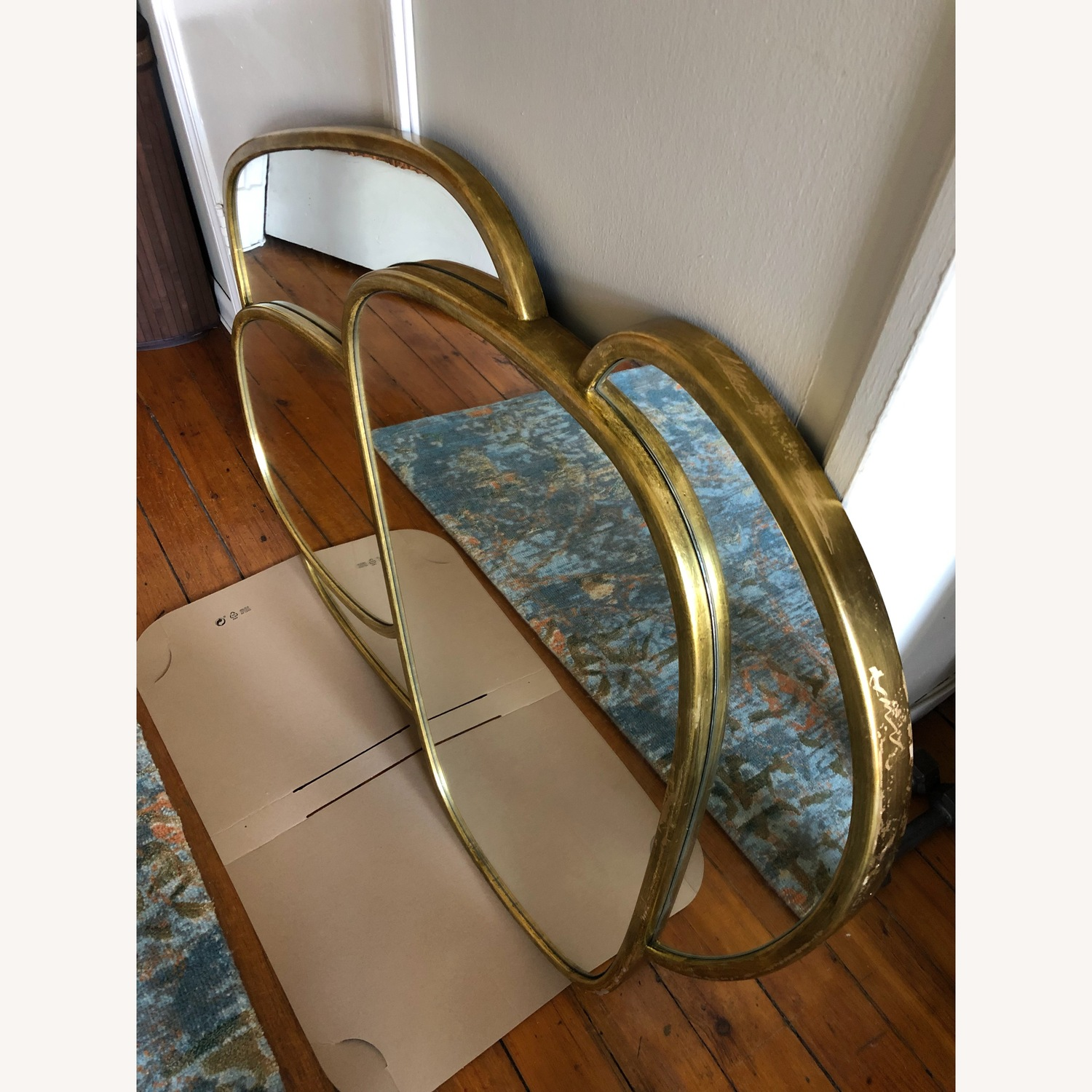 Organic Forms Shapes Gold Leaf Mirror - image-10
