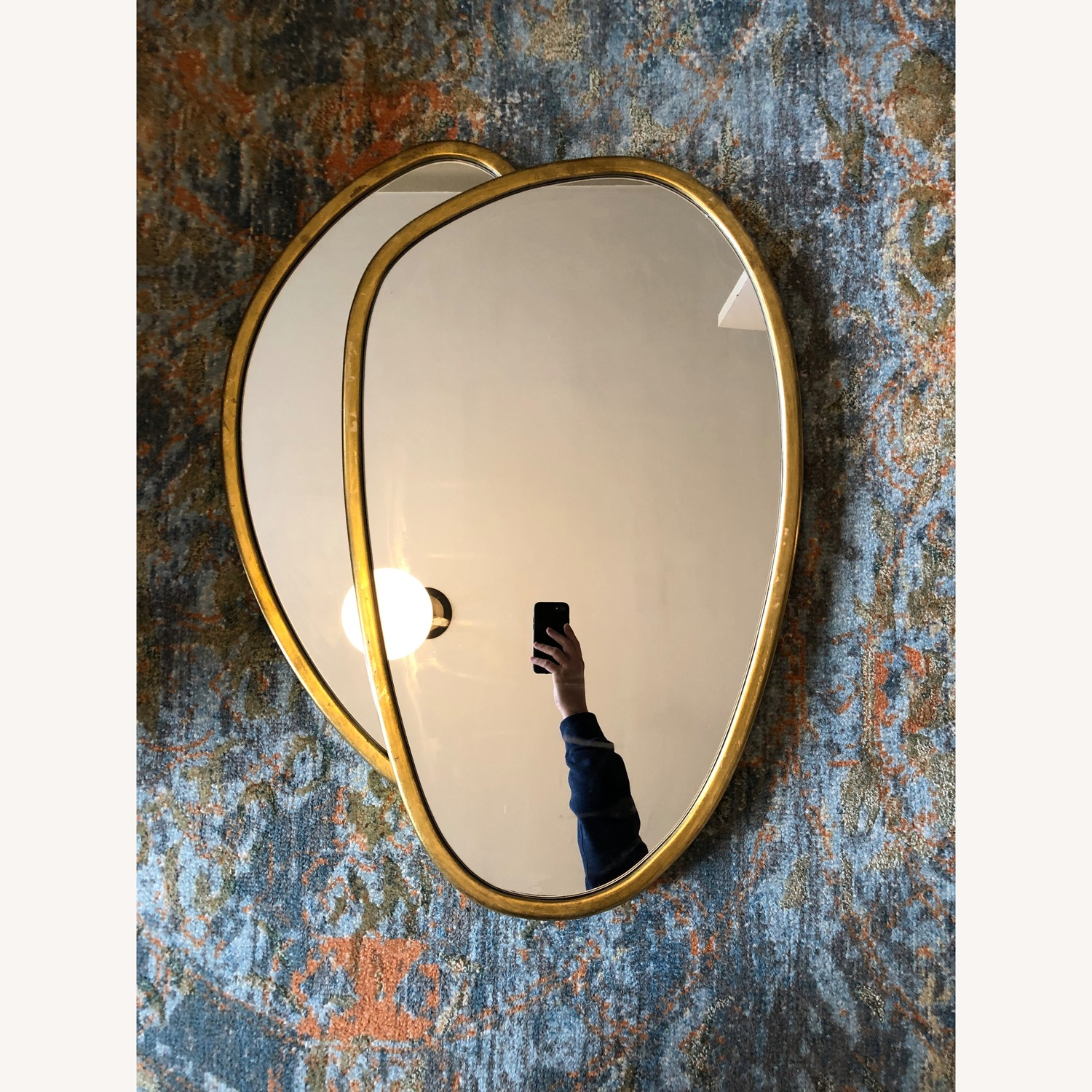 Organic Forms Shapes Gold Leaf Mirror - image-12