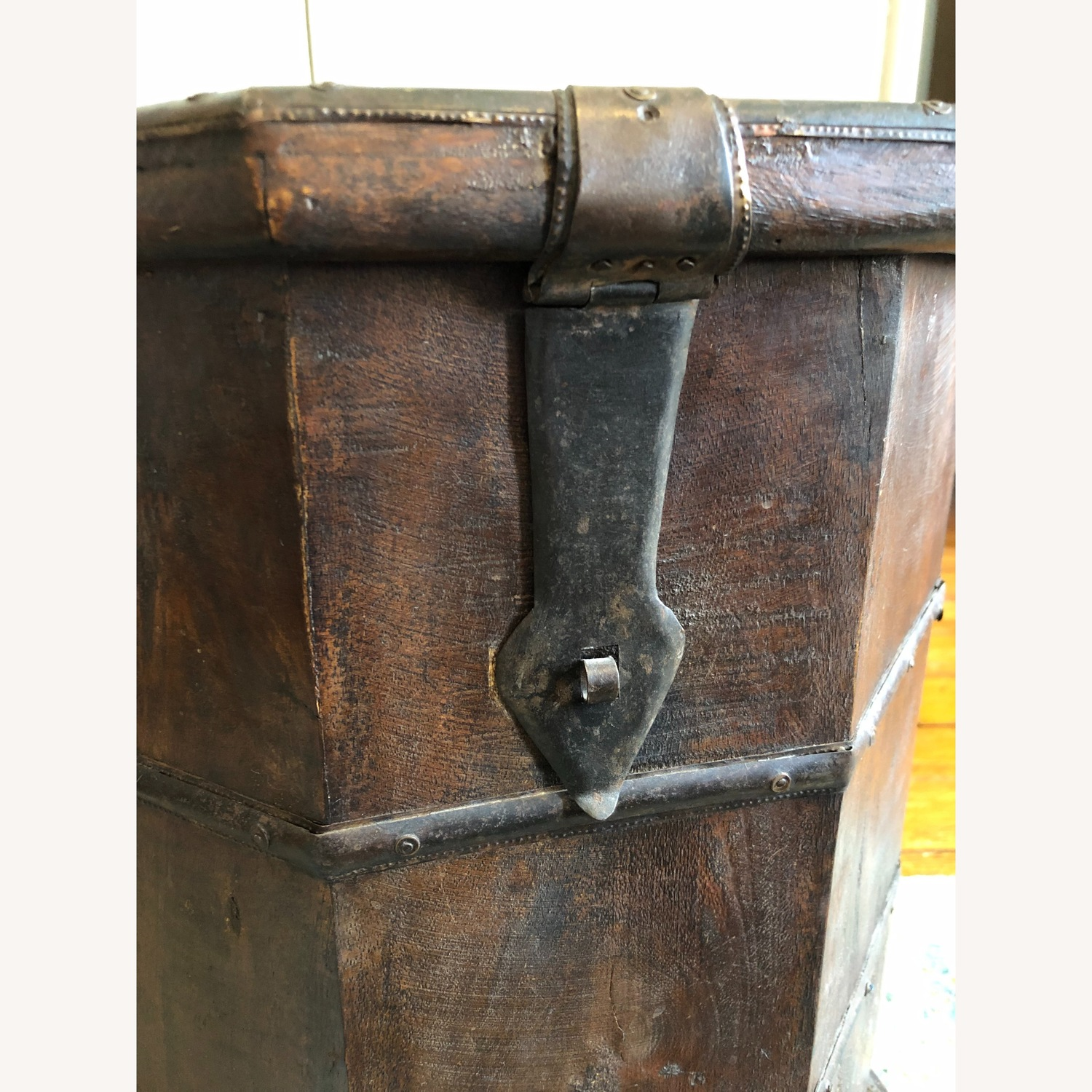 Vintage Octagonal Side Table Trunk with Storage - image-6