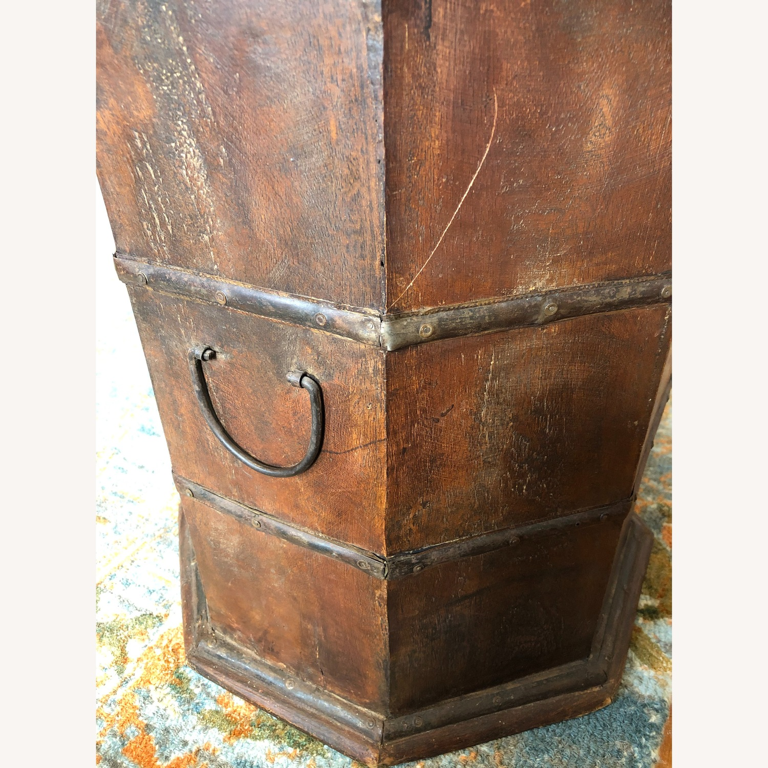 Vintage Octagonal Side Table Trunk with Storage - image-4