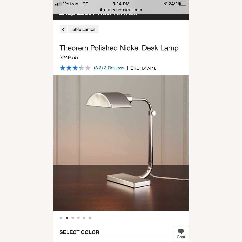 Crate & Barrel Theorem Desk Lamp - image-5