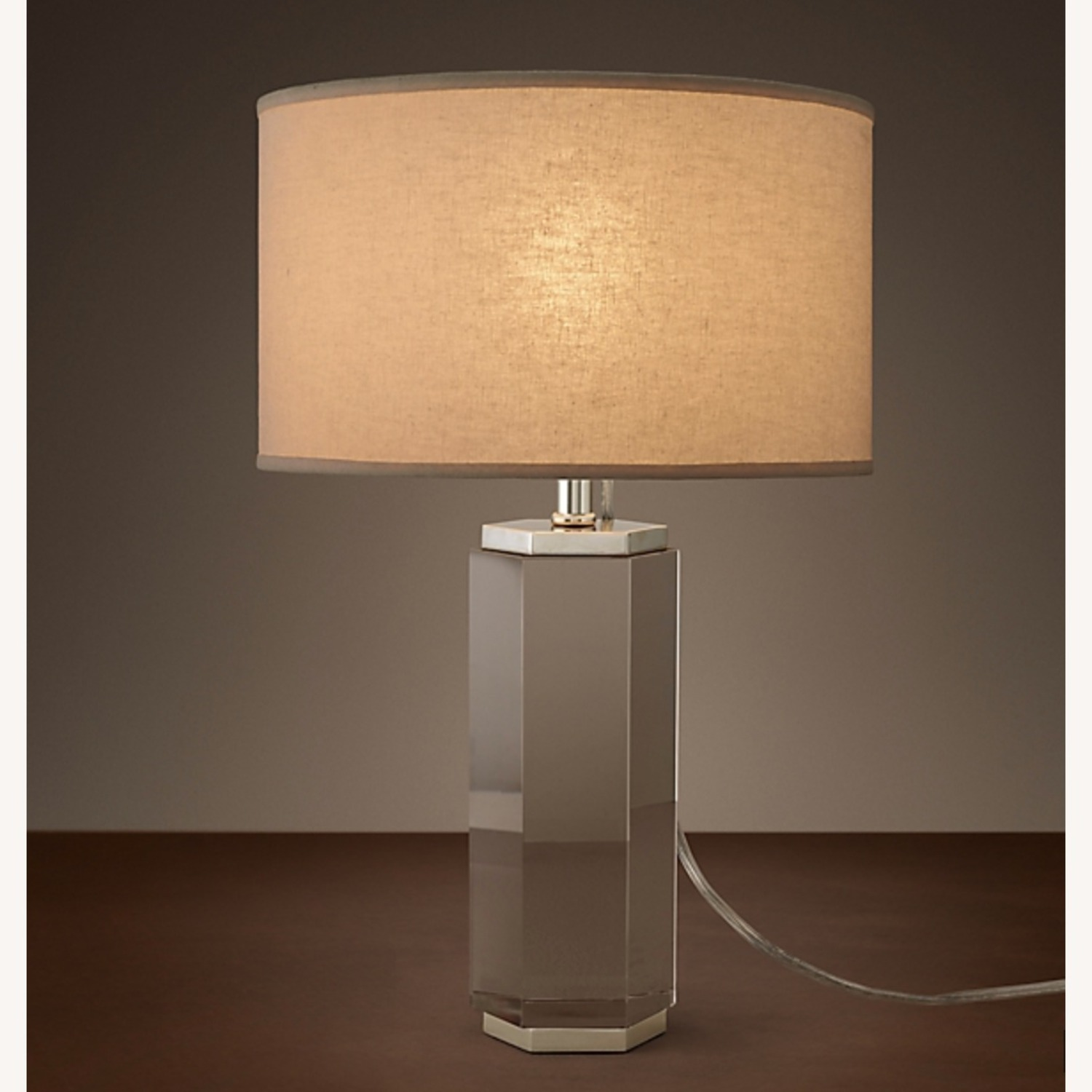 Restoration Hardware Crystal Accent Lamp - image-4