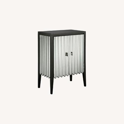 Used Joss & Main Contemporary Deco Style Mirrored Accent Cabinet for sale on AptDeco