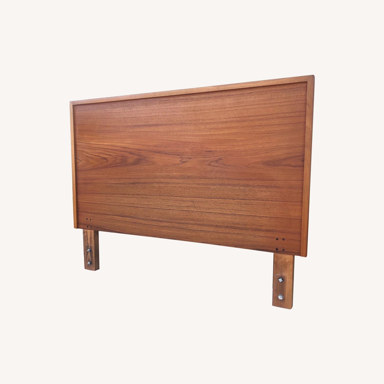 Vintage Modern Teak Headboard - image-0