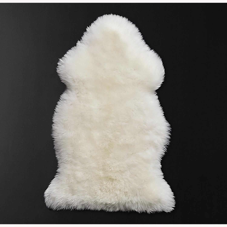 Restoration Hardware Sheepskin Pelt Rug - image-1
