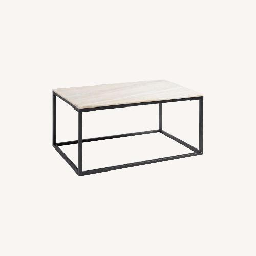 Used World Market Marble Top Coffee Table for sale on AptDeco