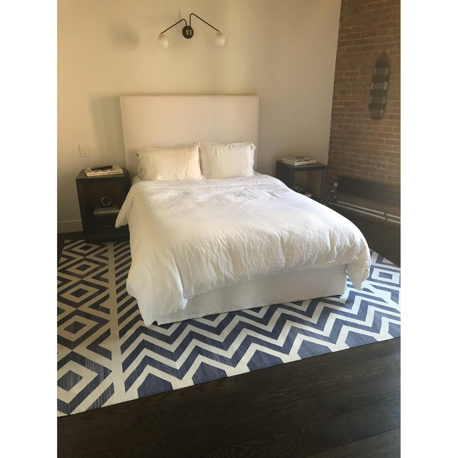 Restoration Hardware Slipcovered Queen Bed - image-1