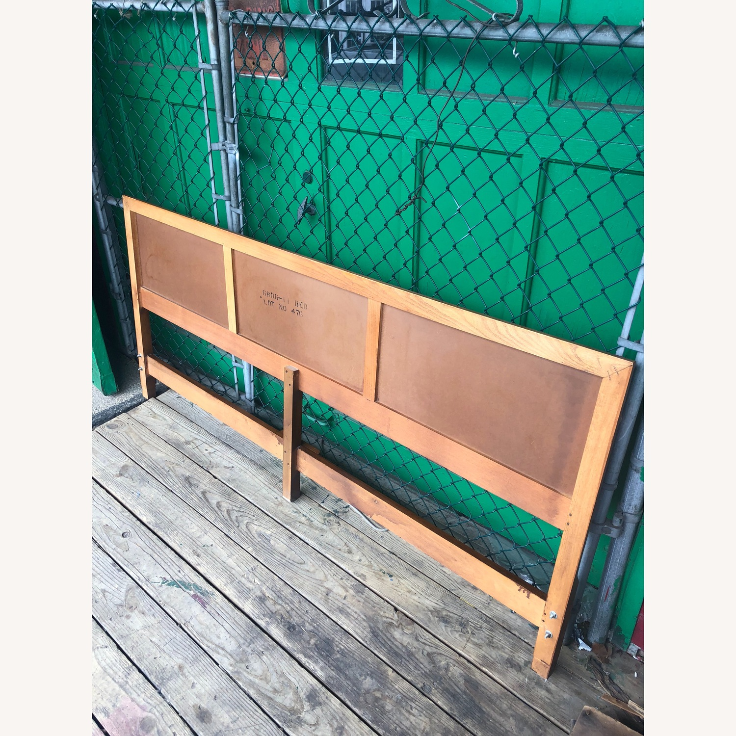 Mid Century Modern king Headboard with Caning - image-4