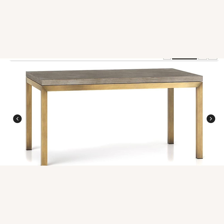 Crate & Barrel Parsons Concrete/ Brass Table - image-2