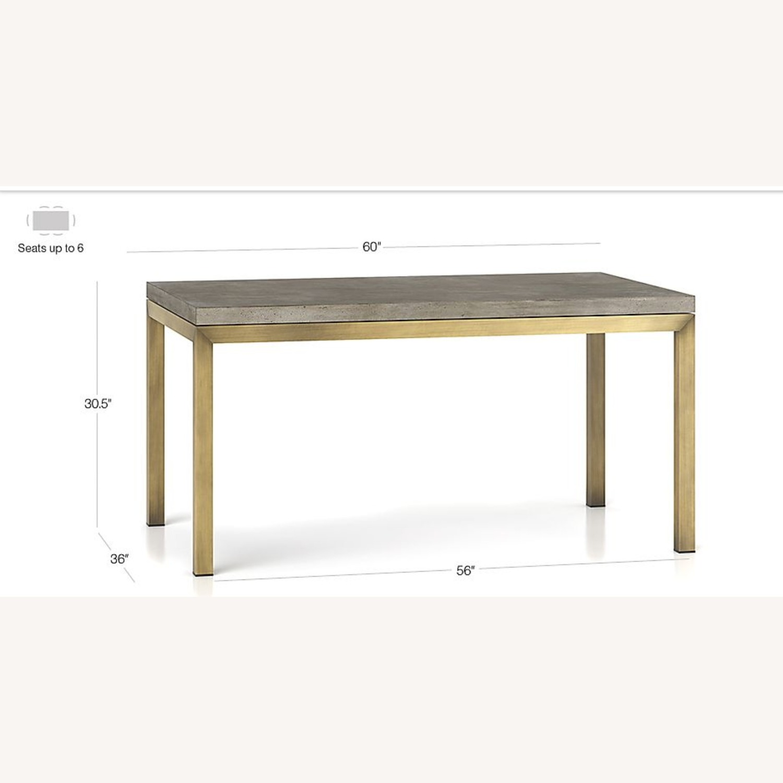 Crate & Barrel Parsons Concrete/ Brass Table - image-3