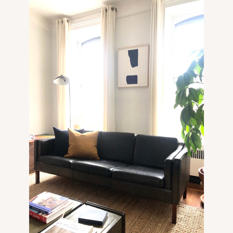 Borge Mogensen style Black Leather Sofa - image-1