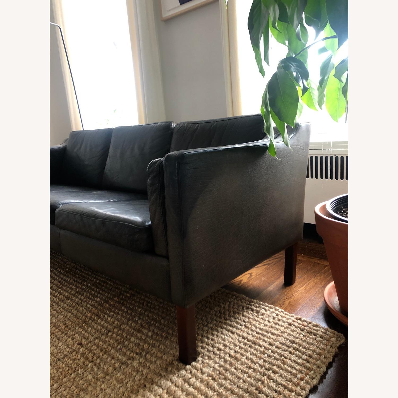 Borge Mogensen style Black Leather Sofa - image-5