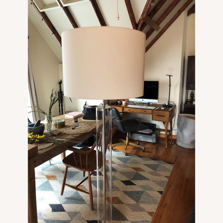 West Elm Acrylic Column Floor Lamp - image-2