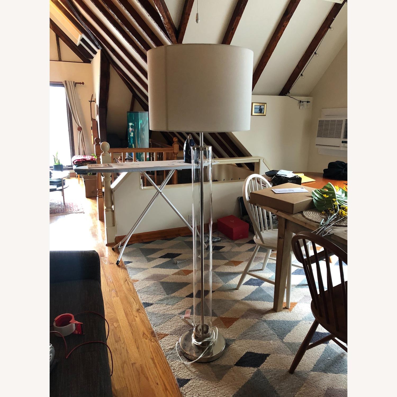 West Elm Acrylic Column Floor Lamp - image-5
