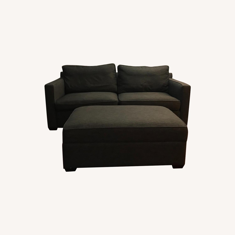 Crate & Barrel Sofa and Storage Ottoman - image-0