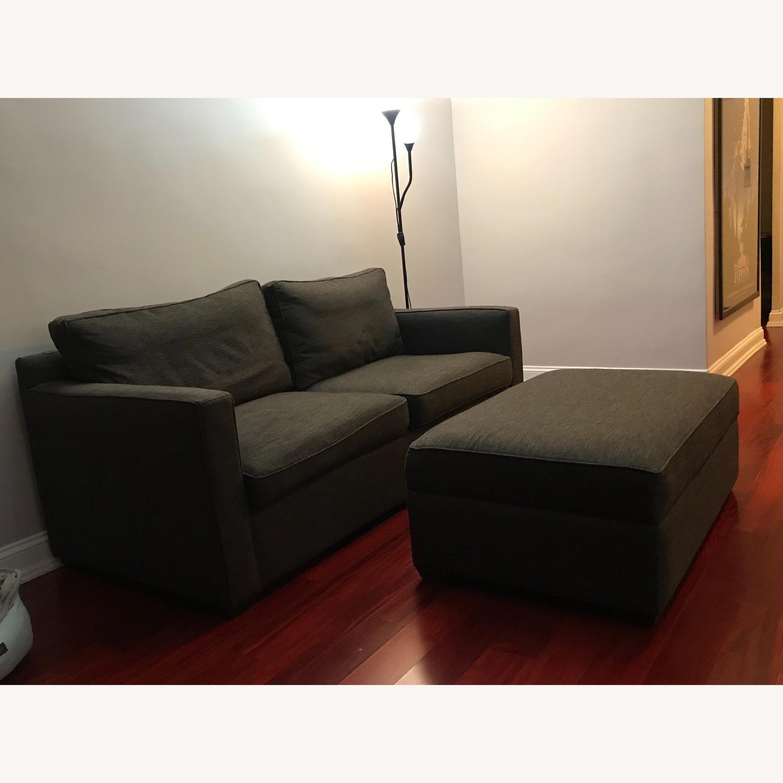 Crate & Barrel Sofa and Storage Ottoman - image-2