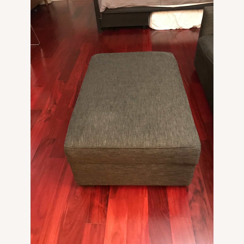 Crate & Barrel Sofa and Storage Ottoman - image-7