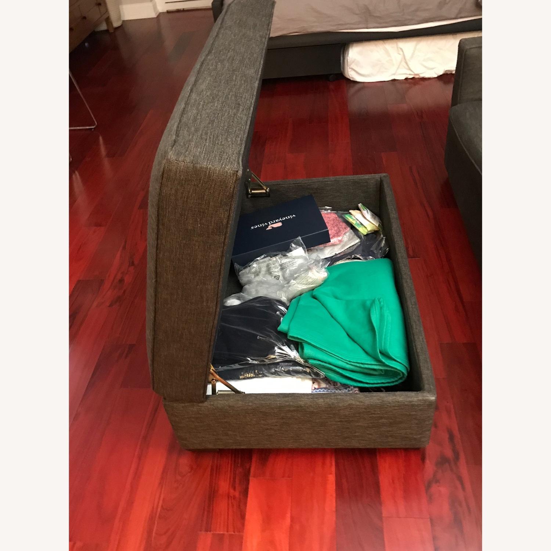 Crate & Barrel Sofa and Storage Ottoman - image-5