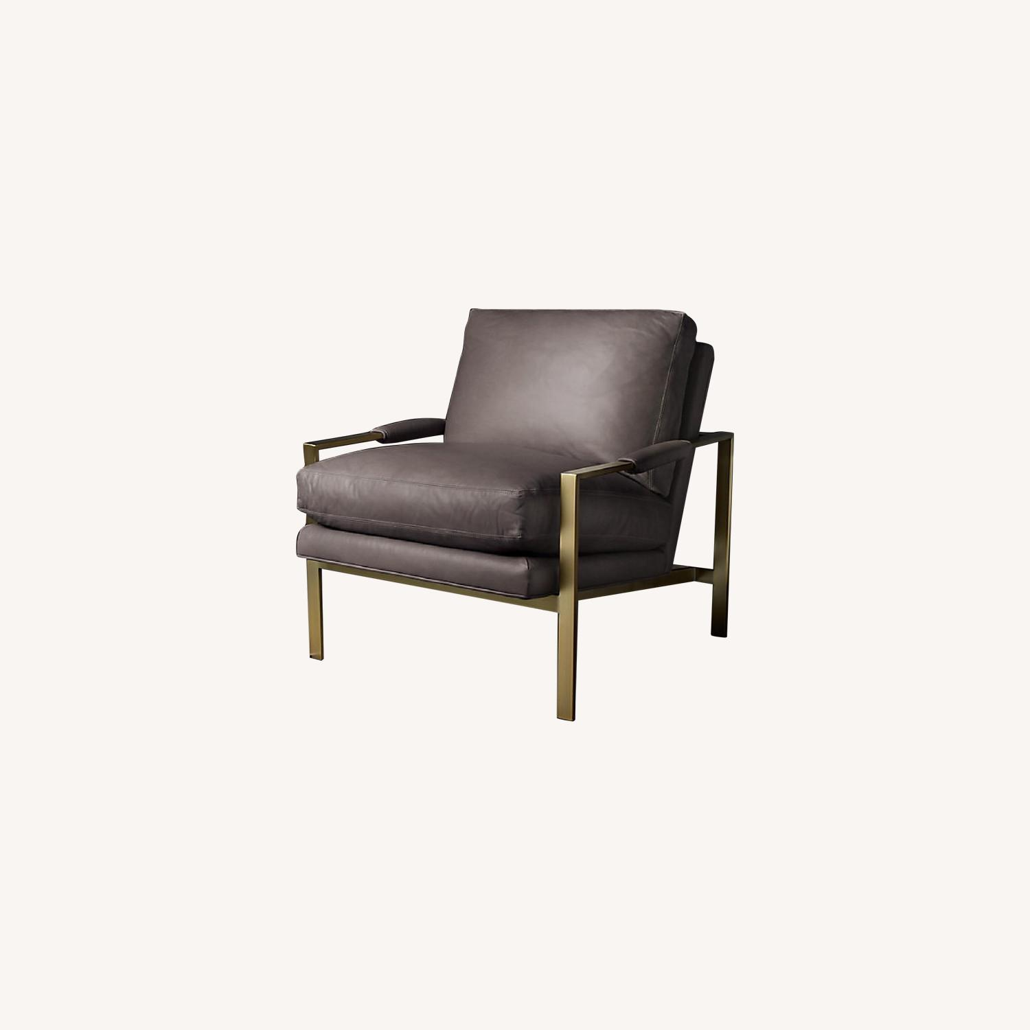Restoration Hardware Satin Brass Armchair (Set of 2) - image-0