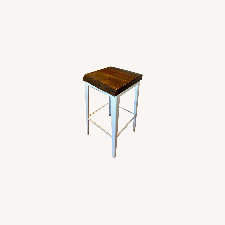 Crate & Barrel Wood Bar Stool - image-0