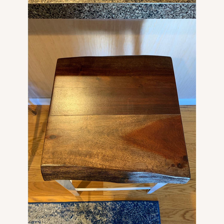 Crate & Barrel Wood Bar Stool - image-3
