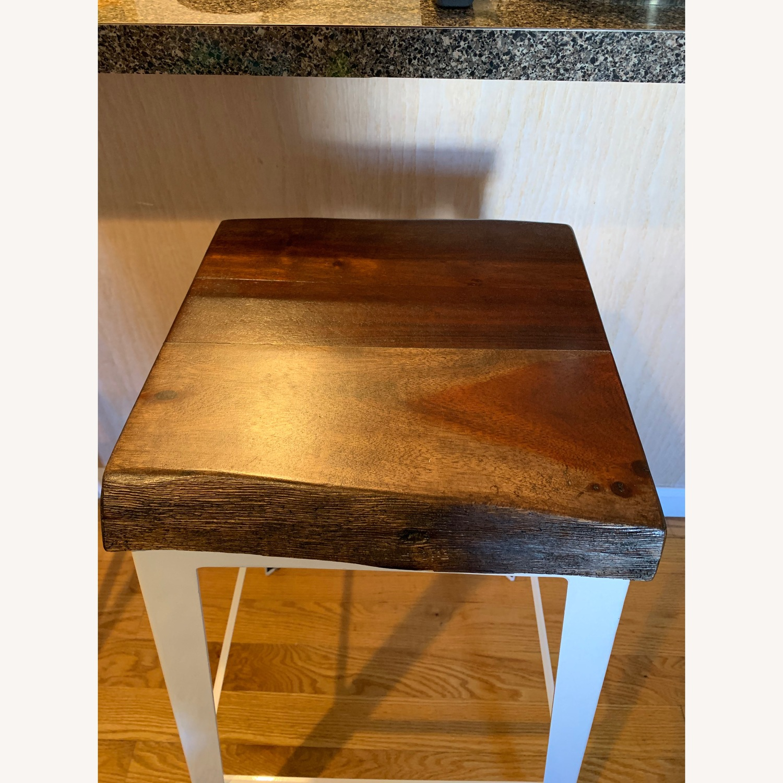 Crate & Barrel Wood Bar Stool - image-2