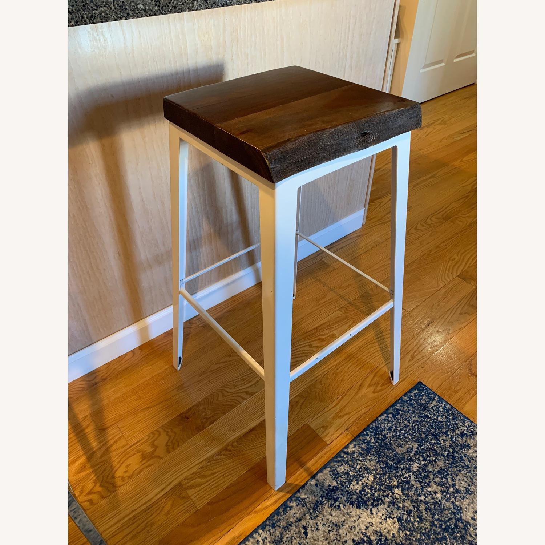Crate & Barrel Wood Bar Stool - image-1