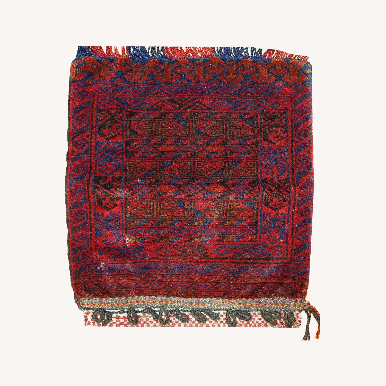 Handmade Antique Collectible Uzbek Salt Bag - image-0