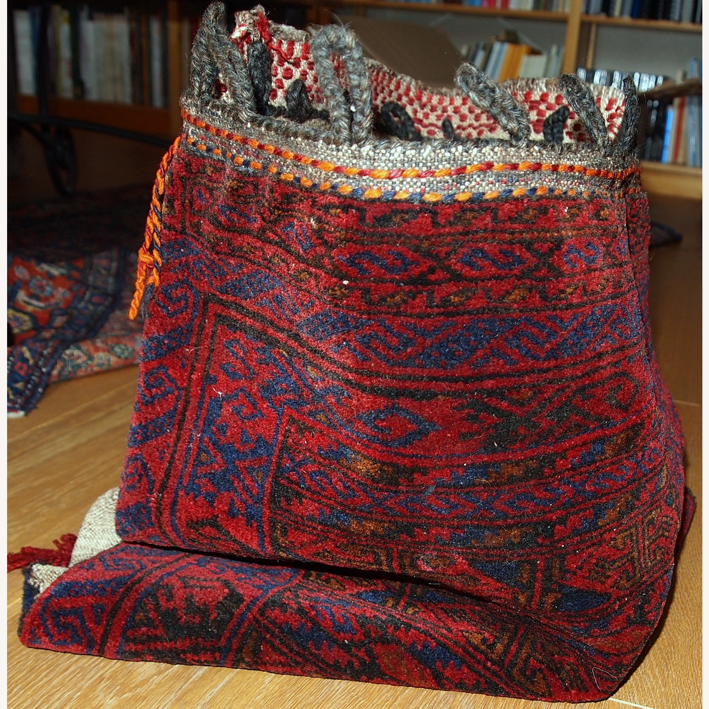 Handmade Antique Collectible Uzbek Salt Bag - image-7