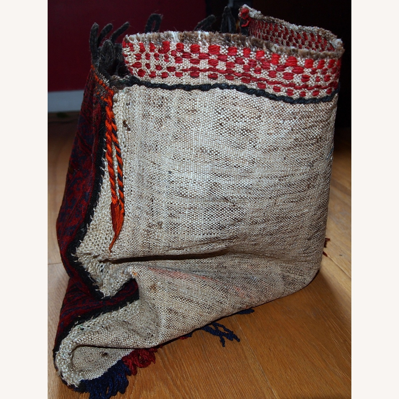 Handmade Antique Collectible Uzbek Salt Bag - image-9
