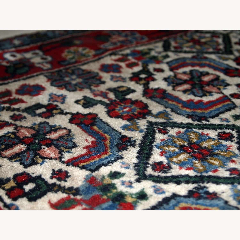Handmade Vintage Indian Agra Rug - image-8