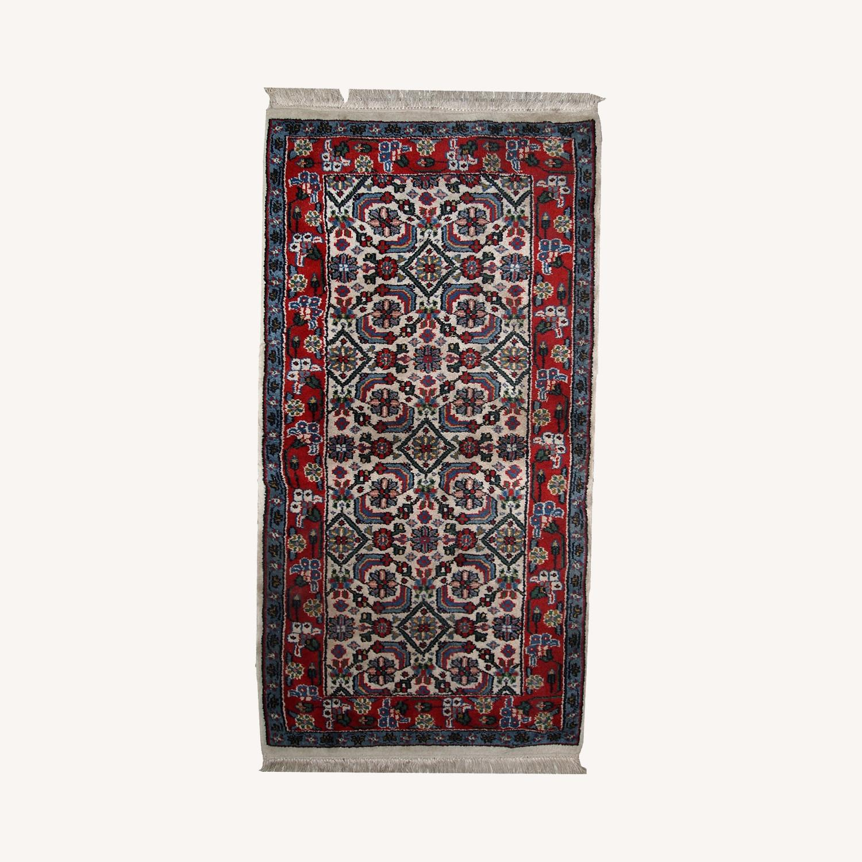 Handmade Vintage Indian Agra Rug - image-0