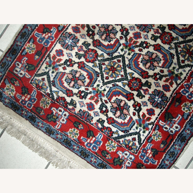 Handmade Vintage Indian Agra Rug - image-9